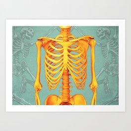 Skeleton II Art Print