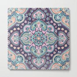 Bohemian Mandala Pattern Metal Print