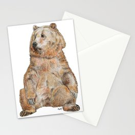 Sitting Bear Stationery Cards