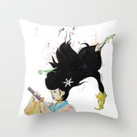 architect Throw Pillows featuring The Architect by 3:33