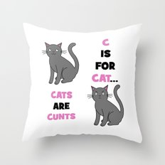 C is for Cat... Throw Pillow