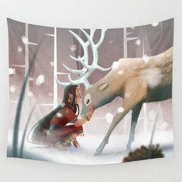 Soft winter Wall Tapestry