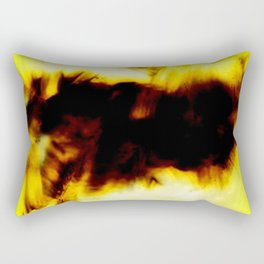 Hole In My Heart Black White Yellow Abstract Rectangular Pillow