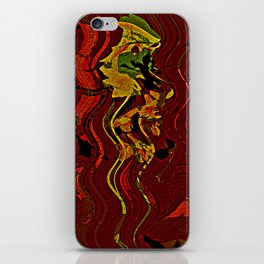 Palm and mysterious shape iPhone Skin