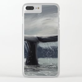 Whale tail Clear iPhone Case