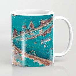 Teal and Rust Coffee Mug