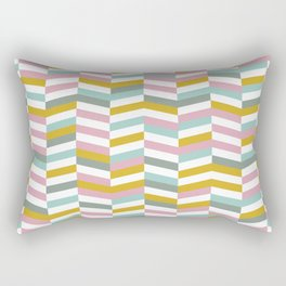 Yellow, Pink and Blue | Geometric Pattern Rectangular Pillow