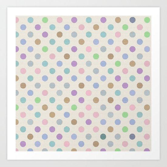 Soft Dots Art Print