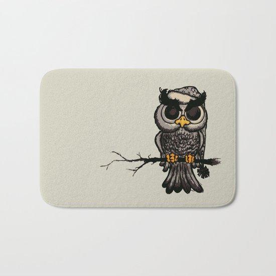 Angry owl Bath Mat