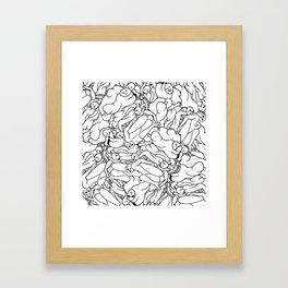 Fifty shades of Love (Light) Framed Art Print