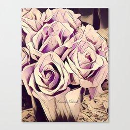 blush roses, lilac living, lilac floral, floral decor Canvas Print