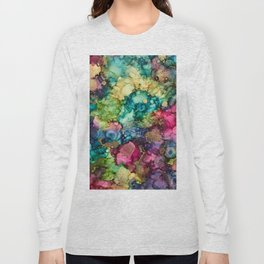Abstract Design of Explosive Colors Long Sleeve T-shirt