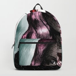 Sylvia Plath_Pink Blue Backpack
