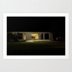Building at Night Art Print