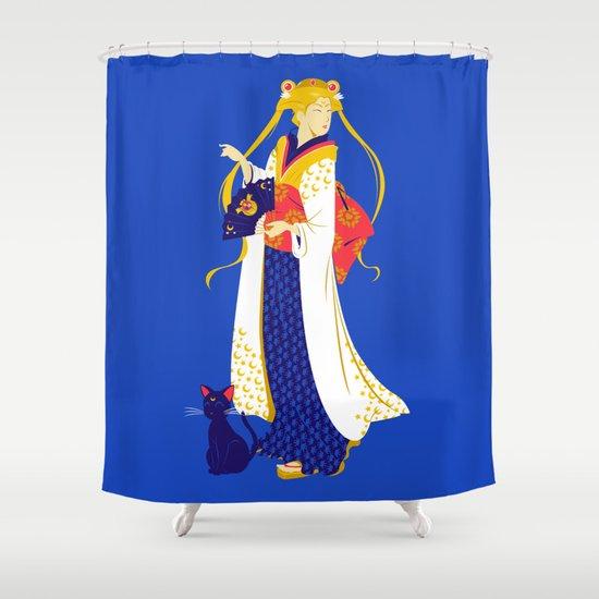 Geisha Moon Shower Curtain