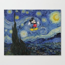 Mousy Night Canvas Print