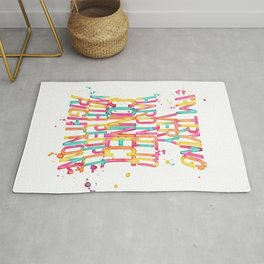 I'm Trying Very Hard Not To Connect With People Right Now - Schitt's Creek Quote Rug