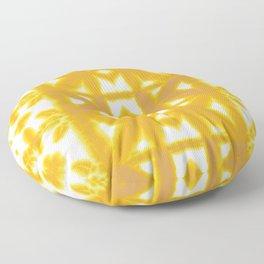 Yellow Pima Shibori Floor Pillow