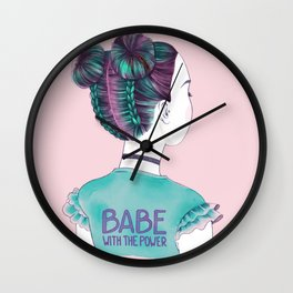 babe Wall Clock
