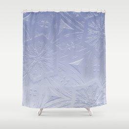Lavender Hexagon Crystal Shower Curtain