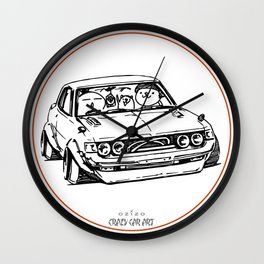 Crazy Car Art 0005 Wall Clock