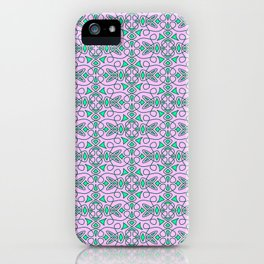 Turquoise Lasso Cowgirl Pink and Green Arrowhead Cowgirl Dreams Abstract Southwestern Design Pattern iPhone Case