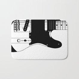Electric Guitar Drawing Bath Mat