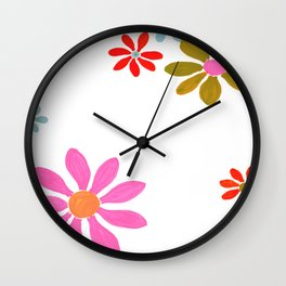 PaintedDaisies Wall Clock