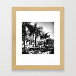 Rio de Janeiro in black and white Framed Art Print