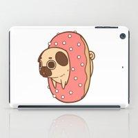 doughnut iPad Cases featuring Puglie Doughnut by Puglie Pug
