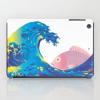 hokusai iPad Cases featuring Hokusai Rainbow & Jpanese Snapper  by FACTORIE