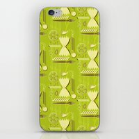 pasta iPhone & iPod Skins featuring Pasta Pattern by Zoe Lotus