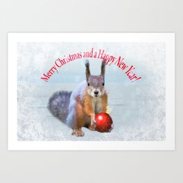 Merry Christmas and a Happy New Year! Art Print