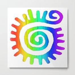 Rainbow Serpent Metal Print