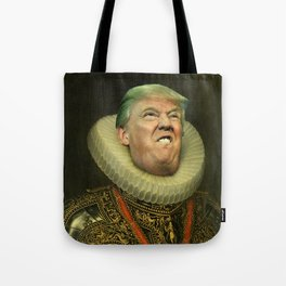 Trump painting face-swap Tote Bag