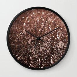 Rose Gold Glitter #1 #sparkling #decor #art #society6 Wall Clock
