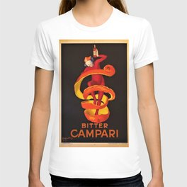 Vintage Orange Motif Bitter Campari Aperitif Advertisement Print Poster T-shirt