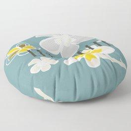 Plumeria Flower Floor Pillow