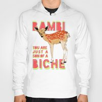 bambi Hoodies featuring Bambi by la belette rose