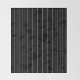 Black White Pinstripes Minimalist Throw Blanket