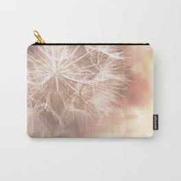 Pink Macro (2) Dandelion Flower - Floral Nature Photography Art and Accessories Carry-All Pouch