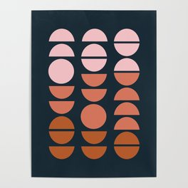 Modern Desert Color Shapes Poster