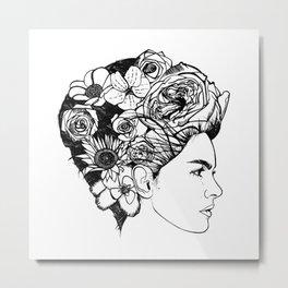 "PHOENIX AND THE FLOWER GIRL ""REFLECTION"" PLAIN PRINT Metal Print"
