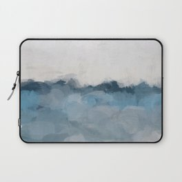 Sky Denim Indigo Navy Blue Ocean Sea Horizon, Abstract Nature Ocean Sunny Clear Morning Water, Paint Laptop Sleeve