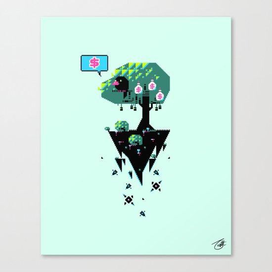 Greedy Grackle Canvas Print