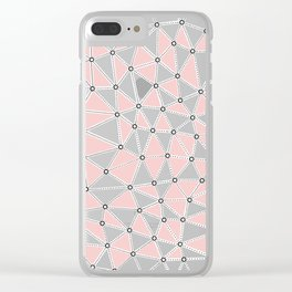 Seg African Grey and Pink Clear iPhone Case
