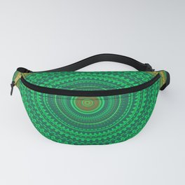 Green Boho Mandala Fanny Pack
