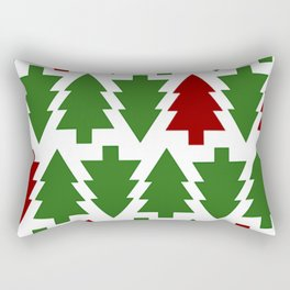 Christmas Pattern 2 Christmas Tree Rectangular Pillow