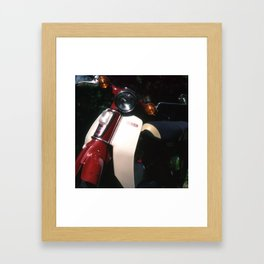 Honda C70 - Suffolk, England Framed Art Print