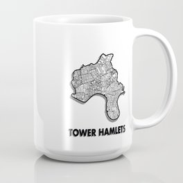 Tower Hamlets - London Borough - Detailed Coffee Mug
